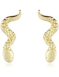 Córdoba Jewels | Pendientes en plata de Ley 925 bañado en oro. Diseño Serpiente Oro