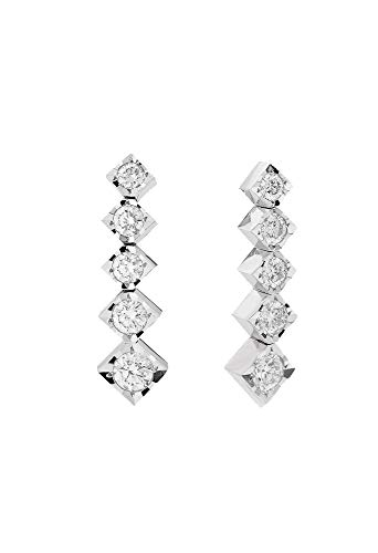 Orecchini Recarlo Punto Luce Diamanti Naturali Oro 18kt Modello Face Cube Donna E39PD002/039