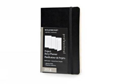 Moleskine Professionelle Kalender 2014 / Projekt-Kalender / Pocket / Weicher Einband / Schwarz (Moleskine Diaries) (Pocket Kalender Chart)