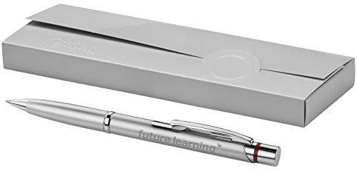Exklusiver Rotring Kugelschreiber Modell MADRID silber inkl. Gravur Lasergravur graviert neu