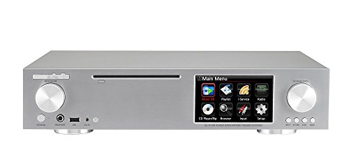 CocktailAudio X30 HiFi Audio System (FM, CD, Netzwerk Streamer und Verstärker) hellsilber inkl. 1TB 3,5