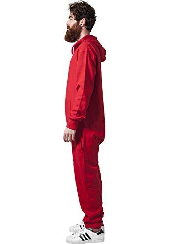 Urban Classics Bekleidung Jumpsuit-Tuta intera Uomo Bianco Rosso