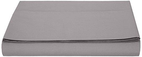 AmazonBasics Bettlaken, Mikrofaser, 180 x 290 + 10 cm - Dunkelgrau