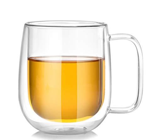 Bicchiere doppia ventre isolante per birra tazza ad alta temperatura