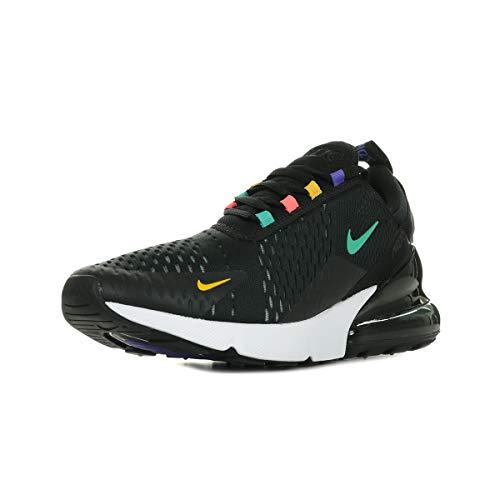 Nike Herren AIR MAX 270 Gymnastikschuhe, Schwarz (Black/Flash Crimson/Univ Gold/Psychic Purple/Kinetic Green/White 023), 44 1/2 EU -