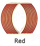Alamor Motorrad Fahrrad Auto Felge Stripe Felgenaufkleber Tape Sticker 5 Farben-Rot