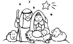 Motivstempel * Bilderstempel * Stempel * Heilige Familie / Weihnachten