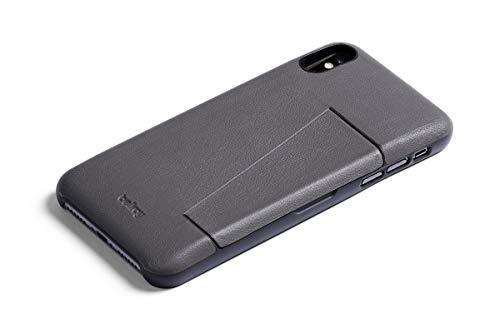 Bellroy Leder iPhone XS Max Hülle - 3 Karten - Graphite - Graphit Leder