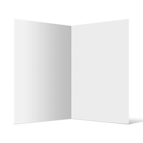50 Blanko Faltkarten Set Klappkarte Doppel-Karten DIN A6 stabiler 300g Karton Postkarten