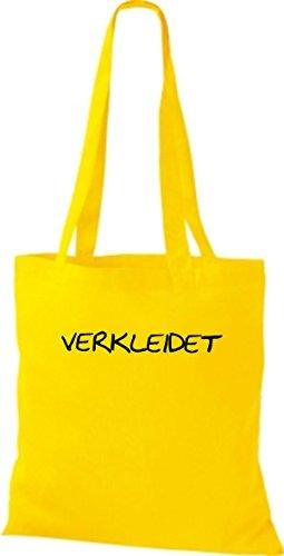ShirtInStyle Stoffbeutel Jute Verkleidet Karneval diverse Farbe gelb