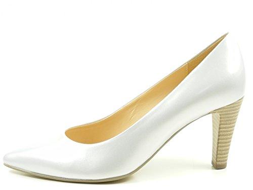 Gabor 61-280 Schuhe Damen Perlatolack Pumps Weite F , Schuhgröße:40;Farbe:Silber