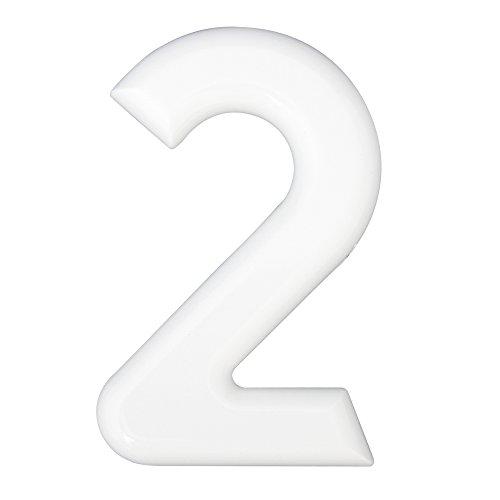 HSI hogar Números 2, plástico, blanco, 160mm, 1pieza, 688200.0 - Best Price