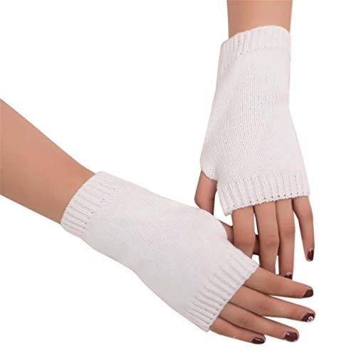 STZHIJIA Winter's Halbe Finger Handschuhe Handschuhe Stricken Frauen Arm Unisex Warme Hand Stricken Winter Fingerlose Halben Finger Handschuhe D