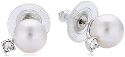 Swarovski - Pendientes de metal con cristal swarovski con cierre de mariposa a presión