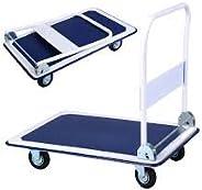 Bigapple WH1-metal 150 Heavy Weight King Metal Trolley, 150 kg Capacity (Blue)
