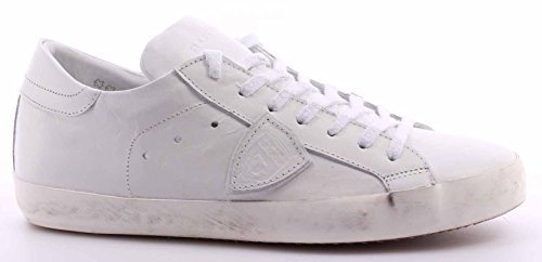 Scarpe Sneakers Uomo PHILIPPE MODEL Paris Classic Low Veau White Bassa Bianca IT