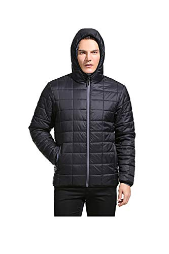 Eono Essentials Herren Thermo-Steppjacke, Schwarz, XL