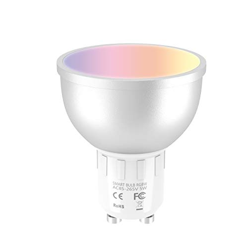 EXTSUD Smart LED WiFi Lampen, GU10 Dimmbar Mehrfarbig LED Birne, 5W
