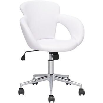 SixBros. Design sgabello girevole da lavoro sedia da ufficio bianco - M-65335-1/725