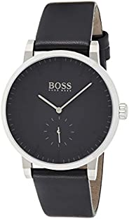 Hugo Boss Essence Men's Black Dial Leather Band Watch - 151
