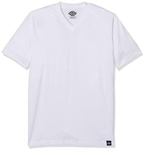 Dickies Herren T-Shirt V Neck Pk, 3er Pack, Gr. X-Large, Weiß (White WH) (Lucky T-shirt 3)