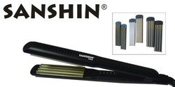 Sanshin Pro Fer à gaufrer Noir Largeur 4,8 cm, 4 niveaux de température