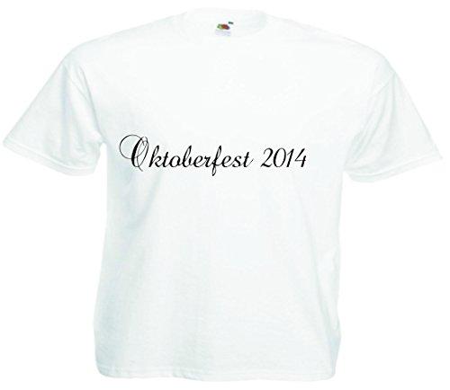 T-Shirt Oktoberfest Wiesn München Junggesellenabschied für Frauen Männer und Kinder in allen Größen XS bis 4XL oder Kinder 104 bis 164 Motiv Nr.37 Kinder-Weiß