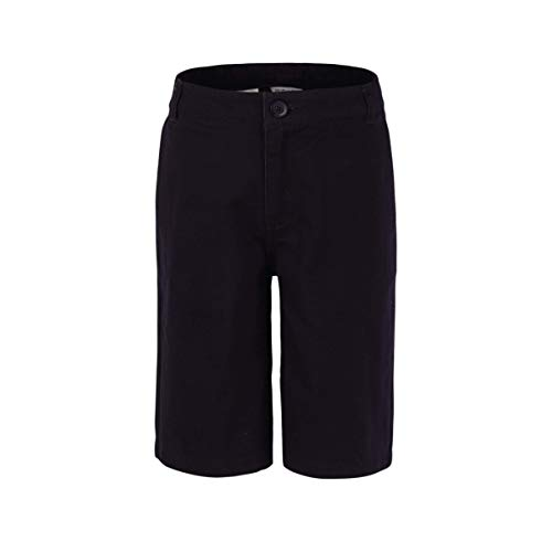 Bienzoe Jungen Baumwolle Schuluniformen Köper Bermuda Shorts Schwarz 6 -