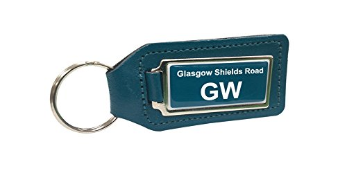 glasgow-shields-road-train-depot-turquoise-leather-keyring