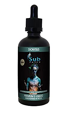 Sub Juice E Liquid - DIONYSUS - Red Astaire e-liquid 100ML Zero Nicotine - 80-20 VG-PG 100ml Bottle with Dropper Non-Nicotine Vaping Juice - Vape Liquid from Sub Juice