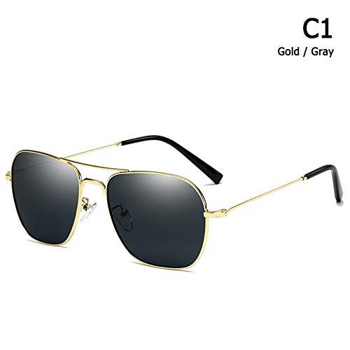 ZHOUYF Sonnenbrille Fahrerbrille Mode Vintage Caravan Aviation Stil Sonnenbrille Klassische Männer Frauen Fahren Angeln Sonnenbrille Oculos De Sol, Eine