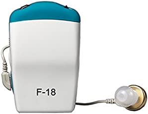 Healthmax (Tm)Axon Professional Pocket Wired Sound Amplifier F-18 In The Ear Hearing Aid (Blue, White)