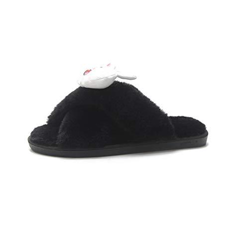 Frauen Winter Flip Flops Cartoon Warme Indoor Outdoor Schuhe Schuhe Niedlichen Plüsch Ente Kaninchen Bär Hausschuhe