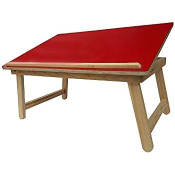 Wood-O-Plast  Wooden Folding Multipurpose Table (LARGE, Red Matt Finish)