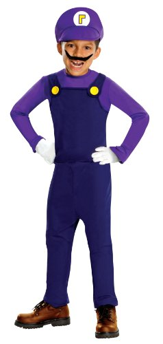 Super Mario Waluigi Kinderkostüm - Medium 127-137cm