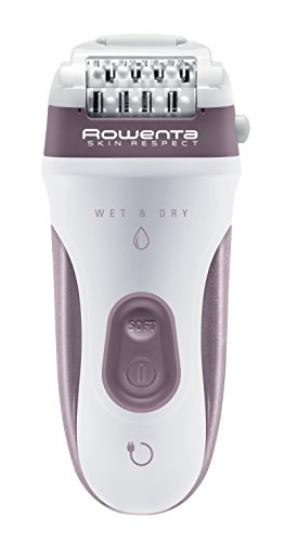 Rowenta Skin Respect EP8060F0 - Schnurlos und unter Wasser verwendbar, 24 Pinzetten mit Peeling- und Rasierkopf, Achselaufsatz, Trimmerkopf mit Reinigungsbürste und Kulturbeutel