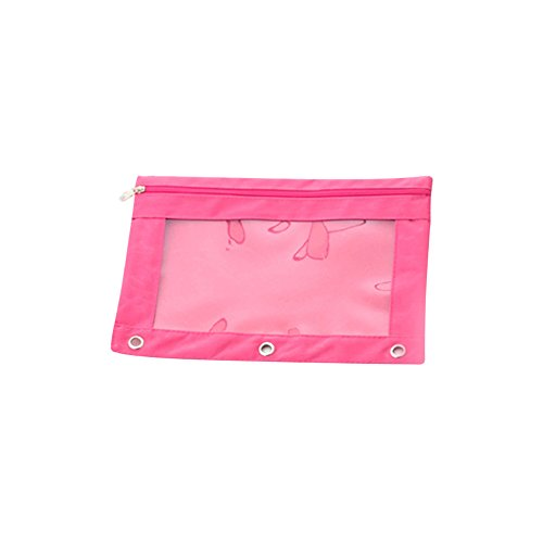 5c44db324e0b HOBOYER Pencil Case, Clear PVC Window High Capacity Pencil Pouch B5  Zippered Oxford Binder File Bag School Office 3 Rivet Enforced Punched  Holes ...