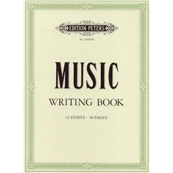 Peters Music Writing Book: 12 Notensysteme pro Seite