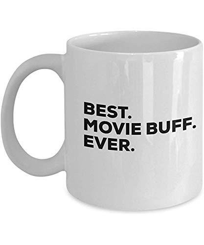 Movie Buff Gifts - La mejor taza de café de la taza de Movie Buff Ever - Regalos para los amantes del cine - Hombres Mujeres - Ideas actuales clásicas - Terror o comedia de miedo - Inexpen 11 oz