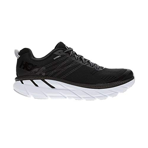 HOKA ONE One Clifton 6 Deportivas Hombres Negro/Blanco - 43 1/3 - Running/Trail