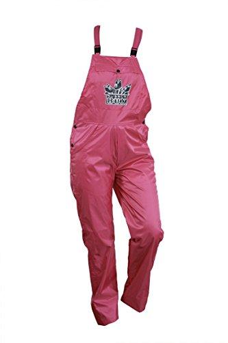 RubberBÜX Festival Ausrüstung Gadget Kleidung Hose Unisex Partyhose Gartenhose Latzhose Selbstdesignen Wasserabweisend (L, Pink)
