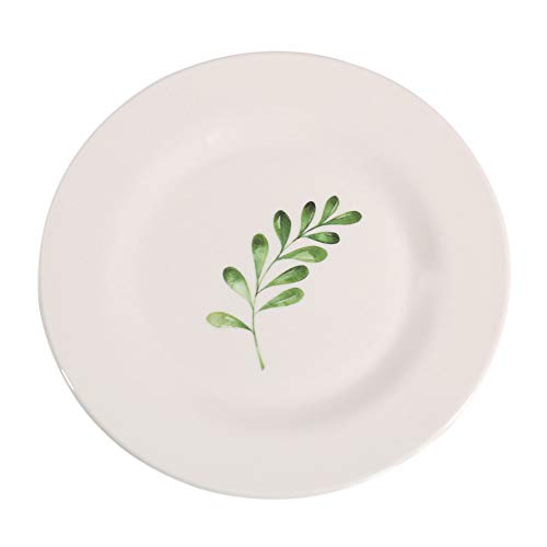 Zdmathe runder Frühstücksteller Melaminteller Westernteller Home Dinner Teller mit nordischer Scheibe -