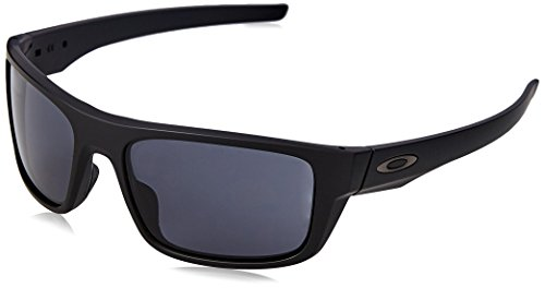 Oakley Drop Point Gafas de Sol, Hombre, Negro (Matte Black/Grey), 61