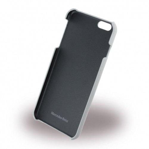 Mercedes-Benz Pure Line Leder-harter Kasten mit Kartenslots für Apple iPhone 6 Plus/6S Plus schwarz grau