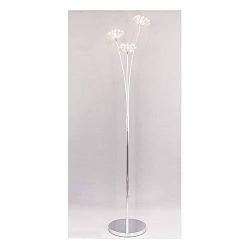 QPSGB Lámpara de pie - Lámpara de pie de Cristal de Diente de león IKEA Sala de Estar Creativa Dormitorio Lámpara de mesita de Noche -6301 lámpara de Piso (Tamaño : 3 Cabezas)