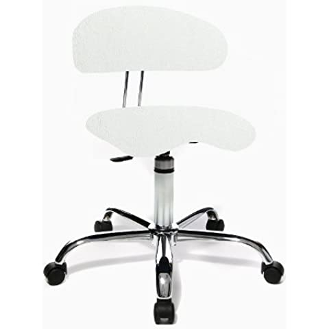 Topstar Bürostuhl/roll sgabello 40 high tech tessuto bianco (Roll Top Home Office)