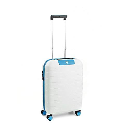 Roncato Box 2.0 Trolley Cabina - 4 Ruote, 55 Cm, 41 Litri, Zaffiro/Bianco