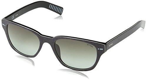 Sting Herren Sonnenbrille Ss653 Grün (SHINY JEANS BLACK) Einheitsgröße