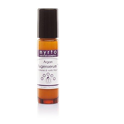 myrto-naturalcosmetics - Straffendes Bio Argan Augenserum Roll-on mit Hyaluron | ohne Konservierungsstoffe ✔ ohne Duftstoffe ✔ ohne Alkohol ✔ – 10ml