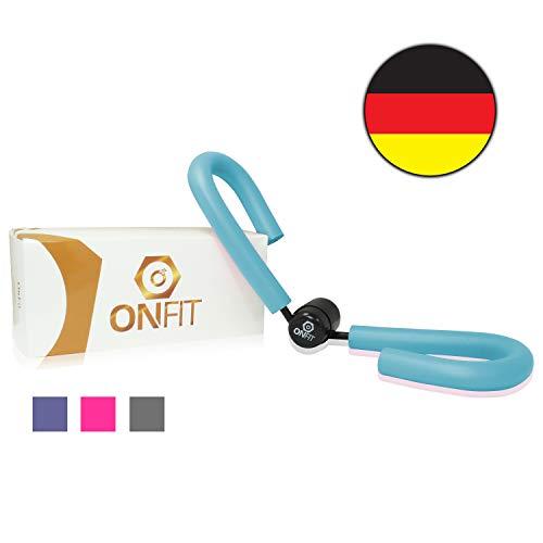 OnFit Oberschenkeltrainer - Premium Qualität - in hochwertiger Verpackung - inkl. Trainingshandbuch & Ernährungs eBook! - multifunktional - Heimtrainer mit superweichen Schaumstoff